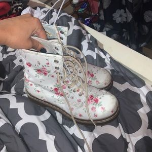 Limited Edition Dr. Marten's White Floral Boots